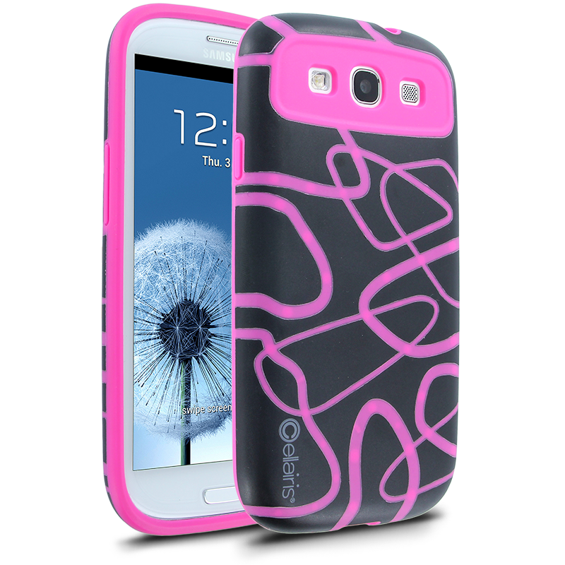 Cellairis Maze Case for Samsung Galaxy S III i9300 - Black/Hot Pink