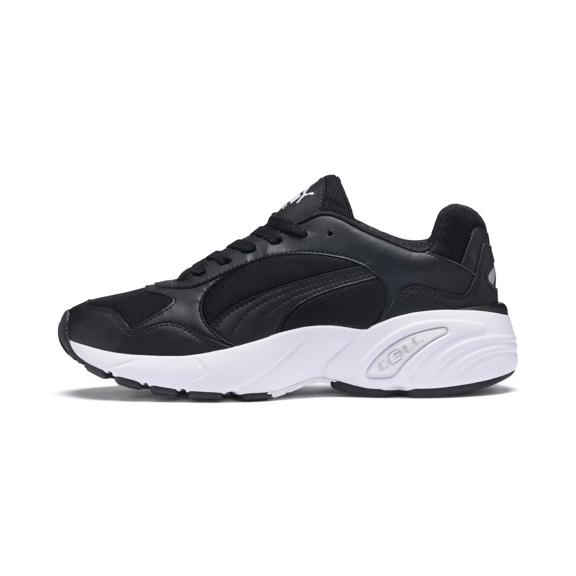 Mens puma cell viper trainers in blackwhite size 105