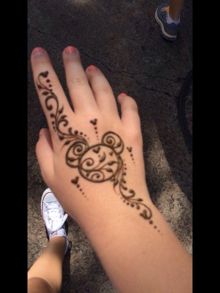 Mickey Henna Tattoo Done At Animal Kingdom Magic Kingdom