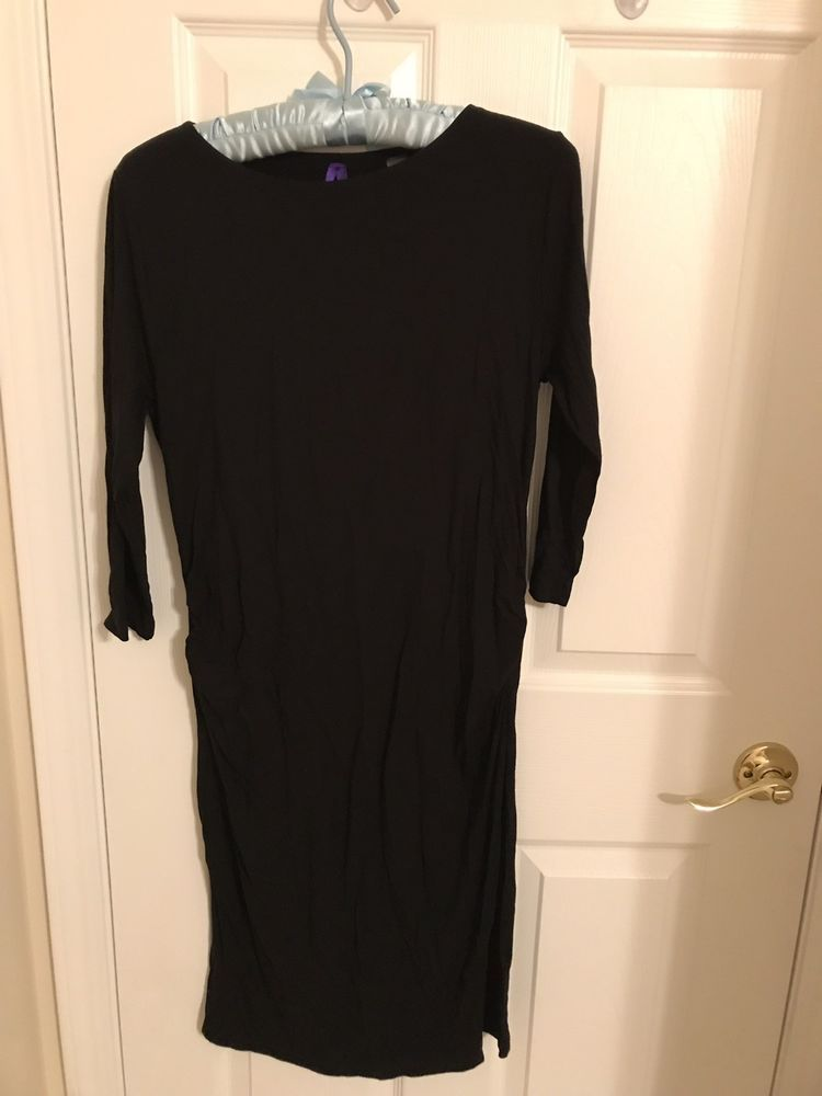 60265edd562d9 Seraphine Maternity Dress Black 3/4 Sleeve Knee Length Size M #fashion # clothing #shoes #accessories #womensclothing #maternity (ebay link)
