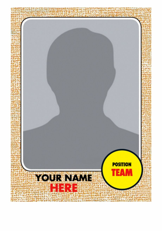 Baseball trading card template 91481 baseball card