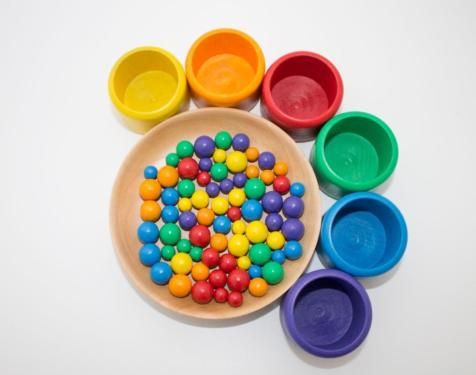 Neu Sortierspiel Montessori Waldorf pikler Farben