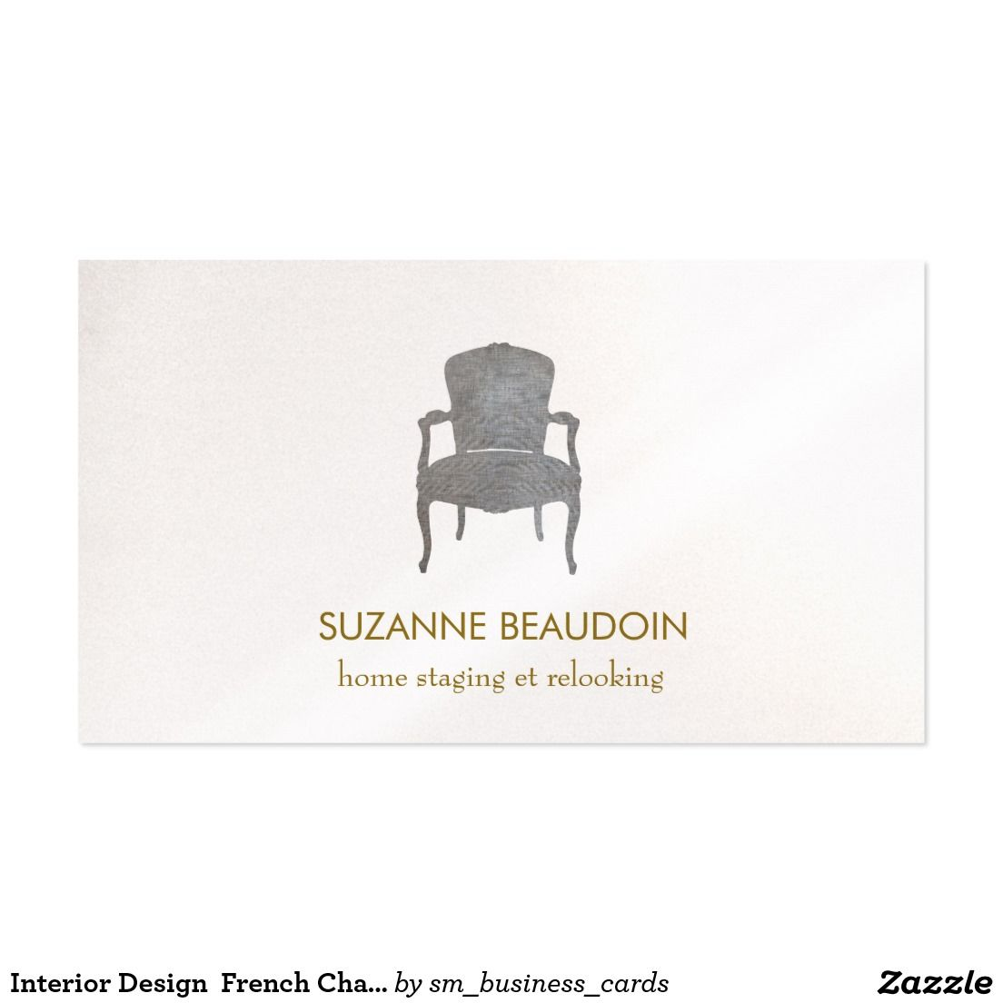 Interior Design French Chair Logo Business Card   logo meble ...