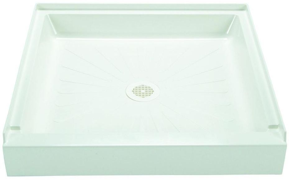32 In X 32 In Single Piece Slip Resistant Center Drain Shower