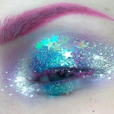 Character Aesthetic Space Kids Iridescent Eye Makeup Make Up Eyes Looks