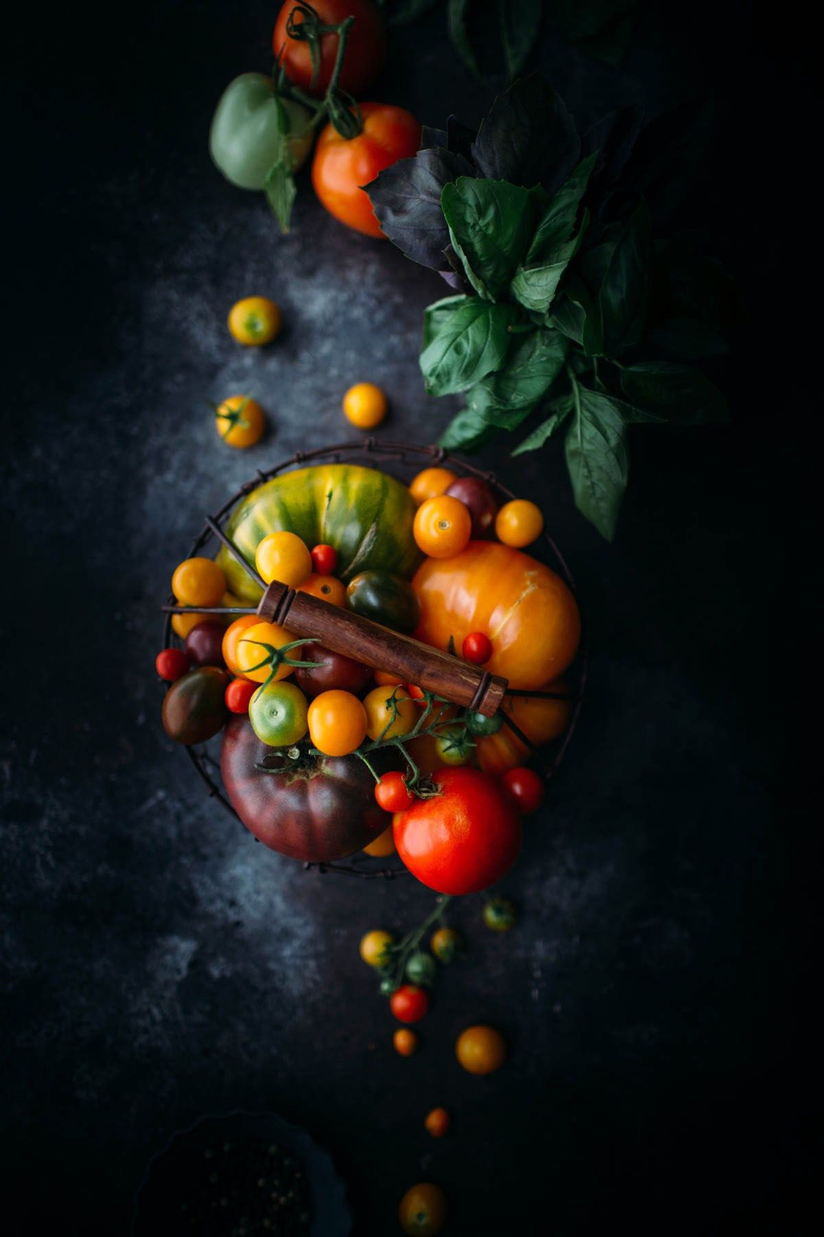 Food Photography - Heirloom Tomatoes