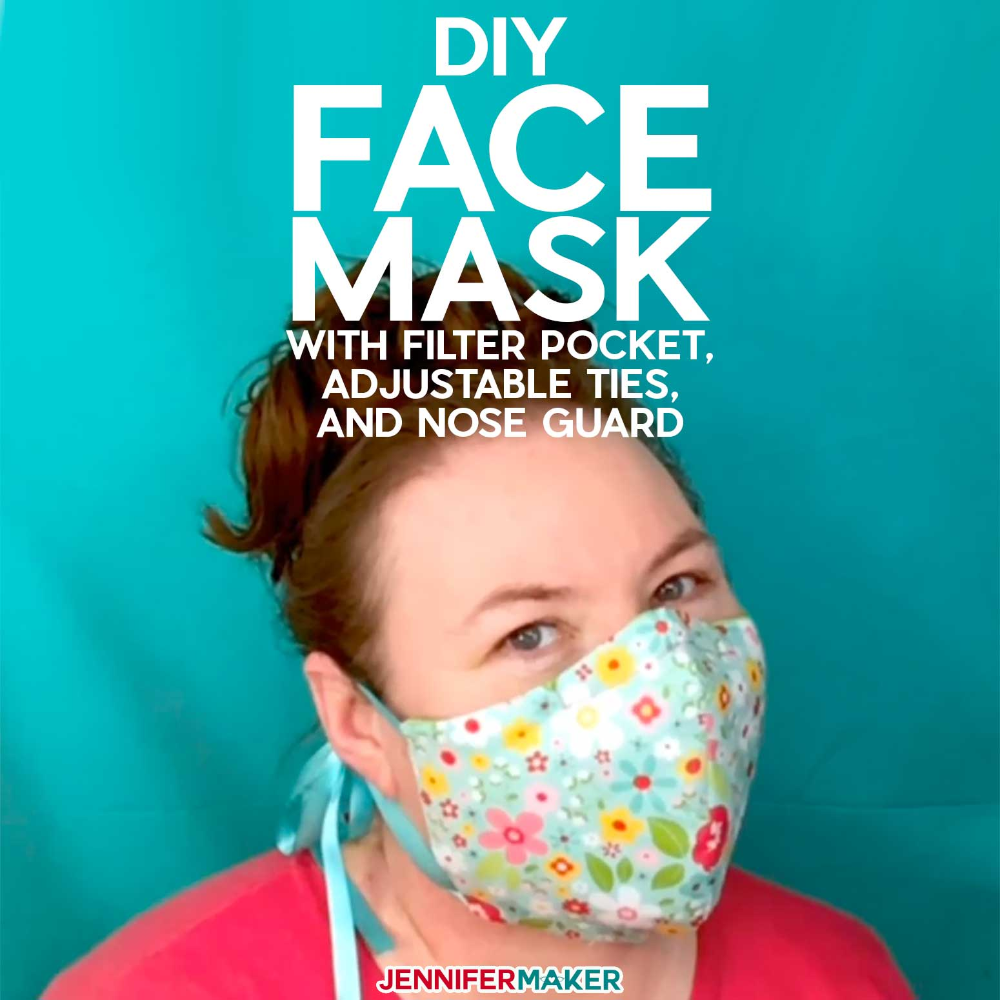 Diy Face Mask Patterns Filter Pocket Adjustable Ties In 2020