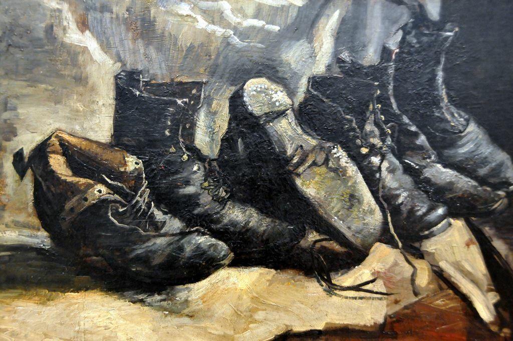Three pair of shoes 1887 Vincent van Gogh