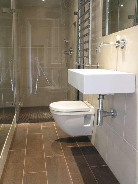 Arredare un bagno lungo e stretto - Bagno stretto e lungo, sanitari su una parete  Bath and ...