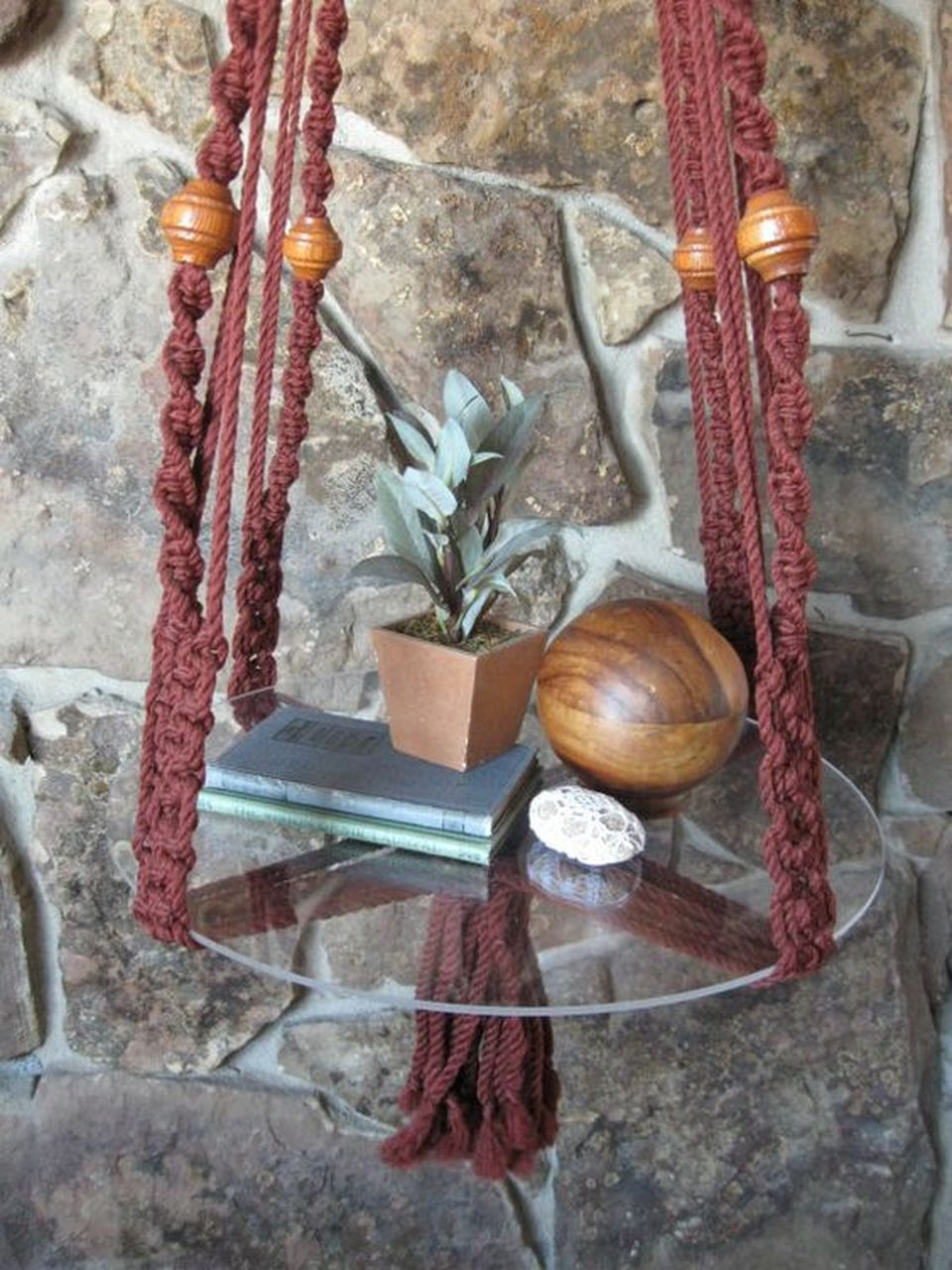 cool diy hanging side table with rope design inspirations 44 rh pinterest com