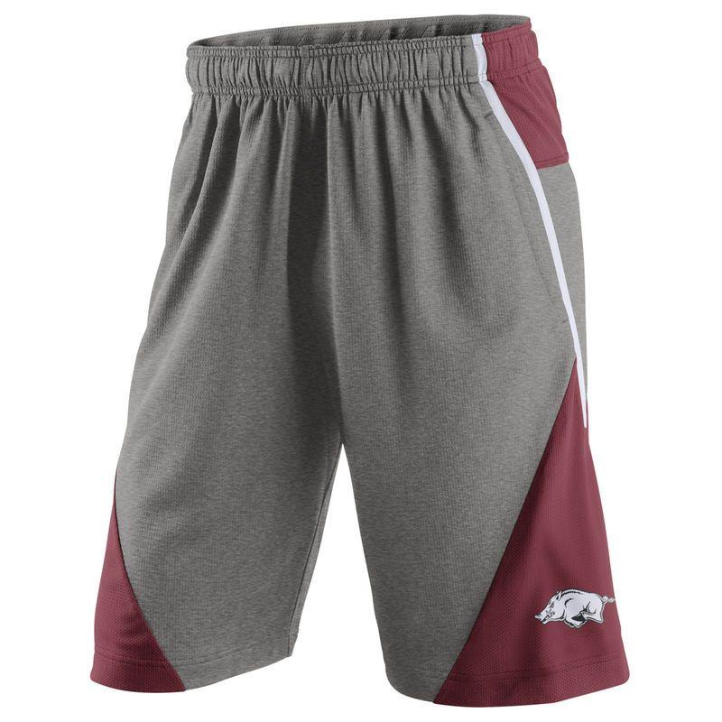 56c2deaf Arkansas Razorbacks Nike Fly XL 4.0 Shorts - Heathered Gray/Cardinal ...