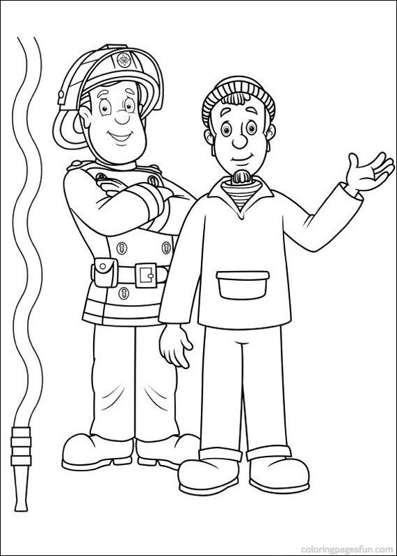 Fireman Sam Coloring Pages 36 (With images) | Coloring ...