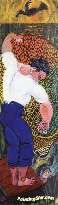Fisherman With Net Artwork By Raoul Dufy Oil Painting & Art Prints On Canvas For Sale