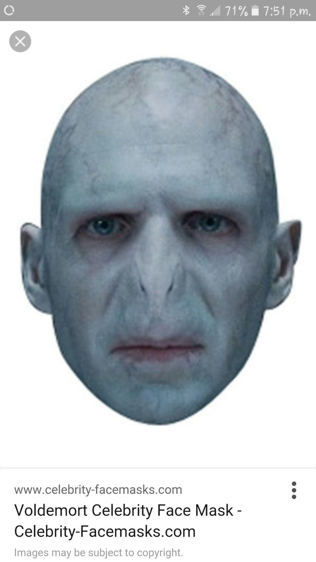 Card Face and Fancy Dress Mask Laura Main Celebrity Mask