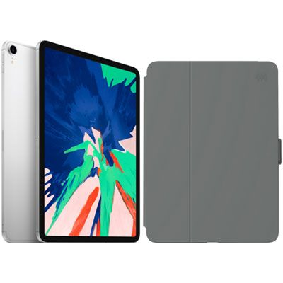 "Apple iPad Pro 11"" 64GB 4G LTE (1st Gen) with Folio Case & Screen Protector - Silver/Slate Grey"