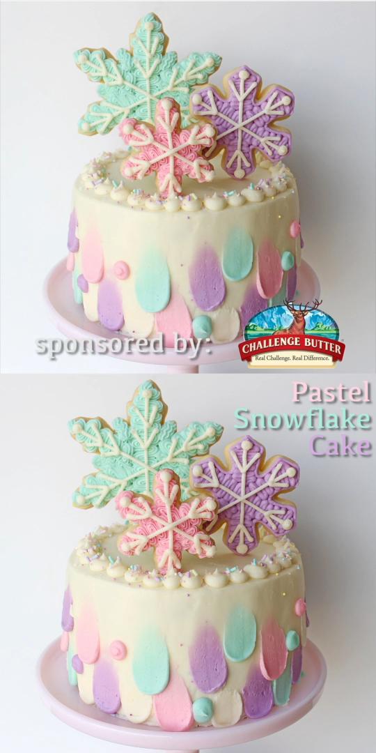 Photo of Pastel Snowflake Cake