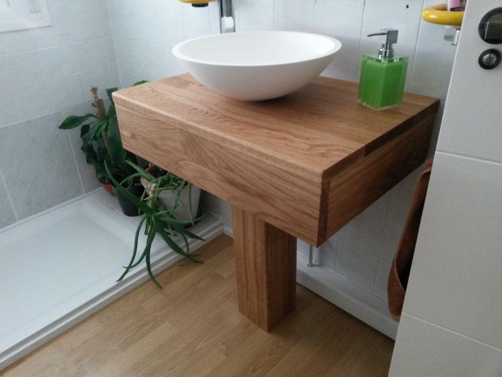 Mueble para lavabo de roble macizo puede ser con pedestal for Mueble lavabo pedestal