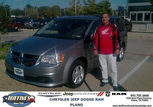 Thank you to Joel Andre on your new 2013 #Dodge #Grand Caravan from Tom Scurlock and everyone at Huffines Chrysler Jeep Dodge RAM Plano! #NewCarSmell