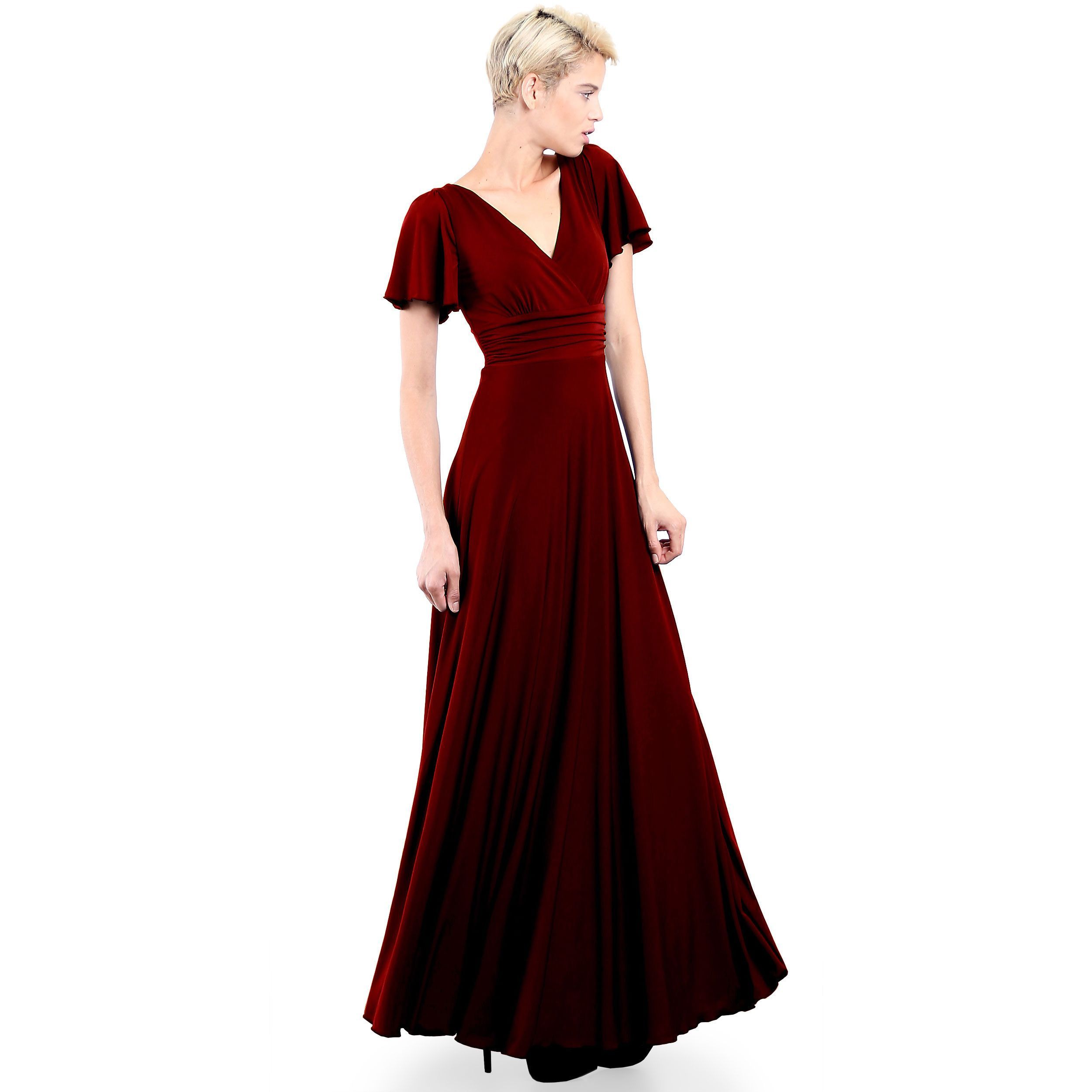 Evanese womenus elegant slipon long formal evening party dress with