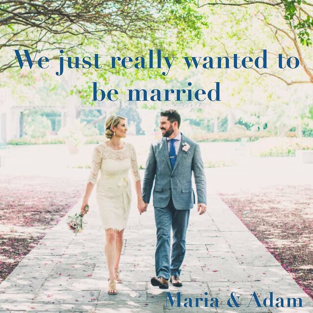 Couples have all sorts of reasons for #eloping but it's usually because they just wanna be married already!  Gorgeous Maria & Adam were keen to be husband and wife and they tell us their story on the blog this week.  Link in bio.