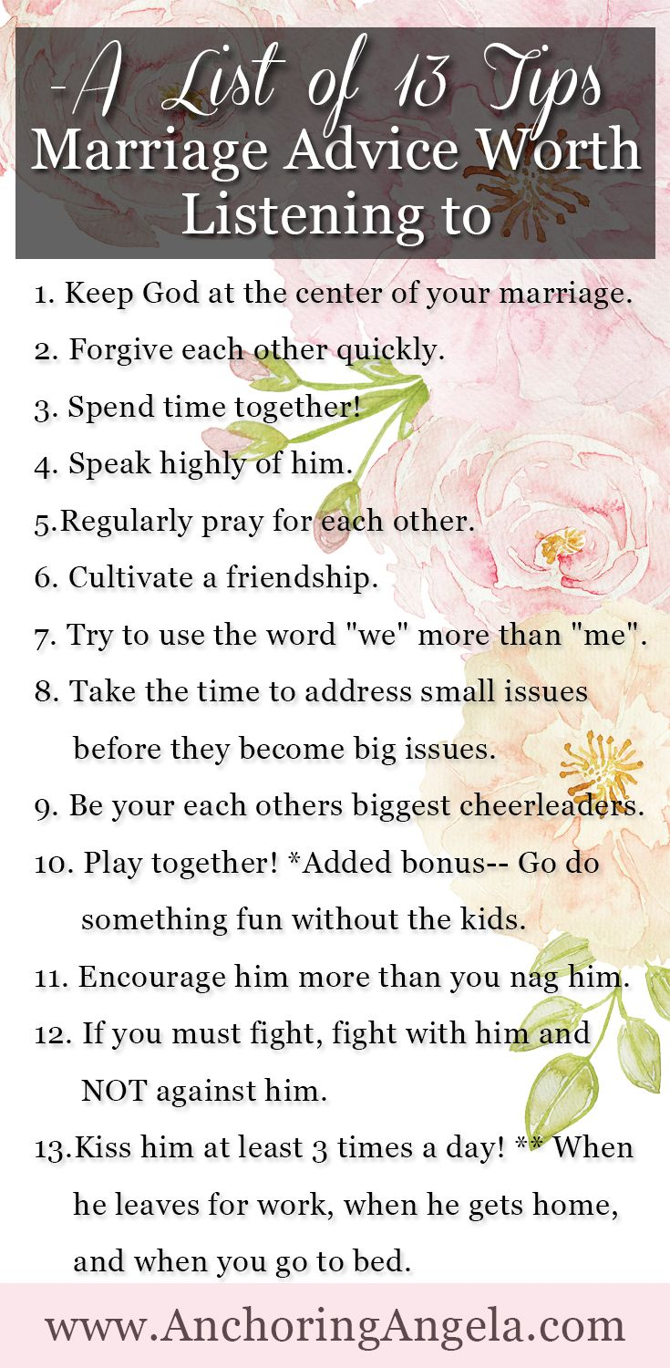 Marriage Advice Worth Listening To A List of 13 Tips