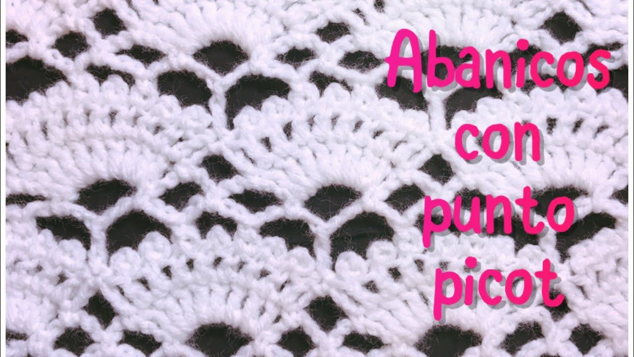 Crochet fan stitch with picots #68 | CROCHET SQUARES AND STITCHES ...