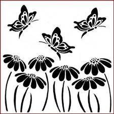 butterfly stencil template   Silouette Cameo   Pinterest   Stencil ...