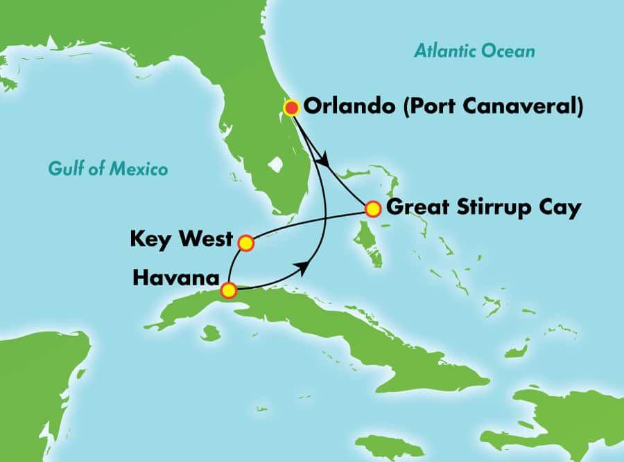 5 Day Cuba Overnight Key West From Orlando Port Canaveral Cruises To Cuba Port Canaveral Orlando Beach