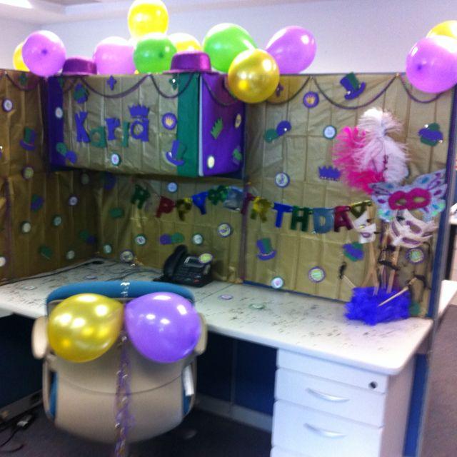 Work Desk Birthday Decoration Ideas
