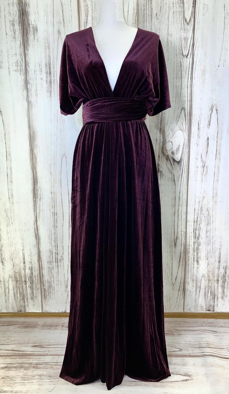Plum Velvet Infinity Dress Bridesmaids Dress Convertible Etsy In 2021 Plum Bridesmaid Dresses Infinity Dress Bridesmaid Velvet Bridesmaid Dresses [ 1367 x 794 Pixel ]