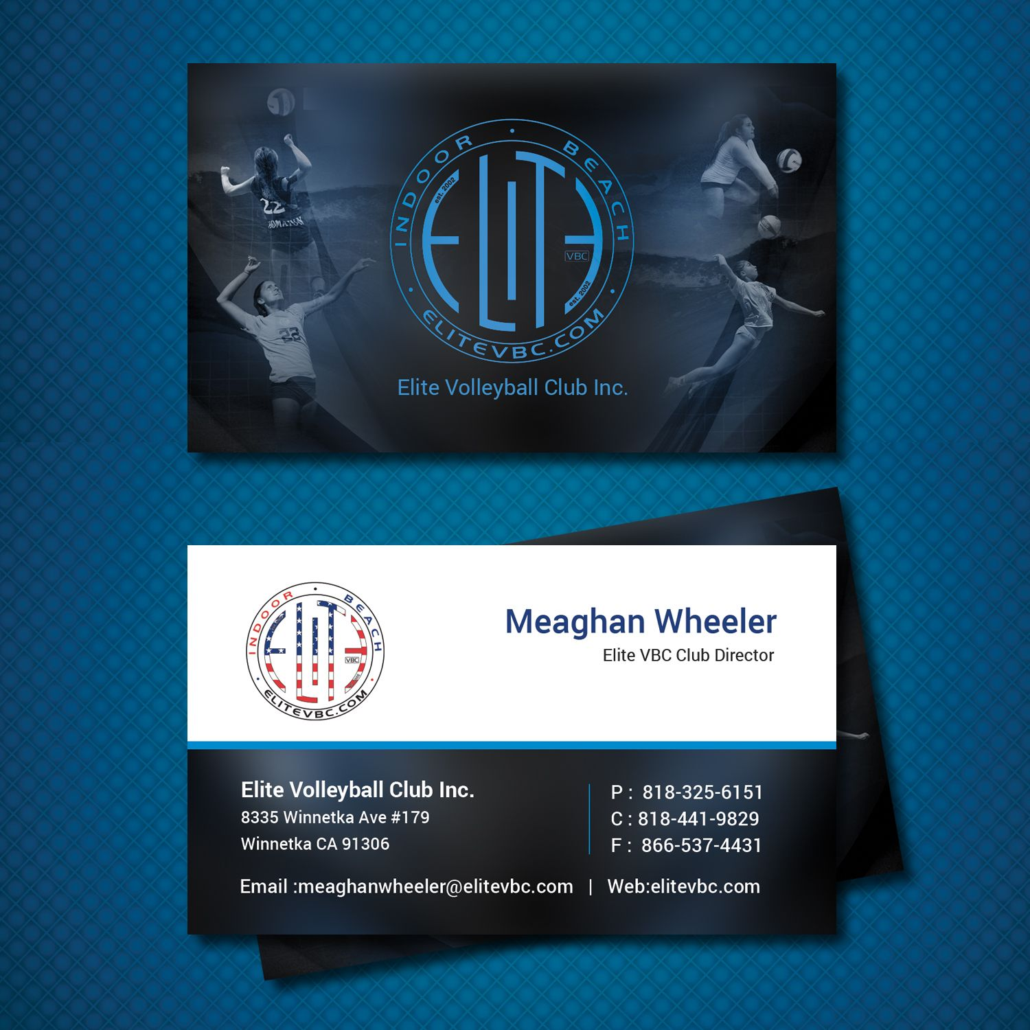 37 Business Card Designs Business Business Card Design Project For The Elite Volleyball Club Inc Business Card Design Art Business Cards Card Design
