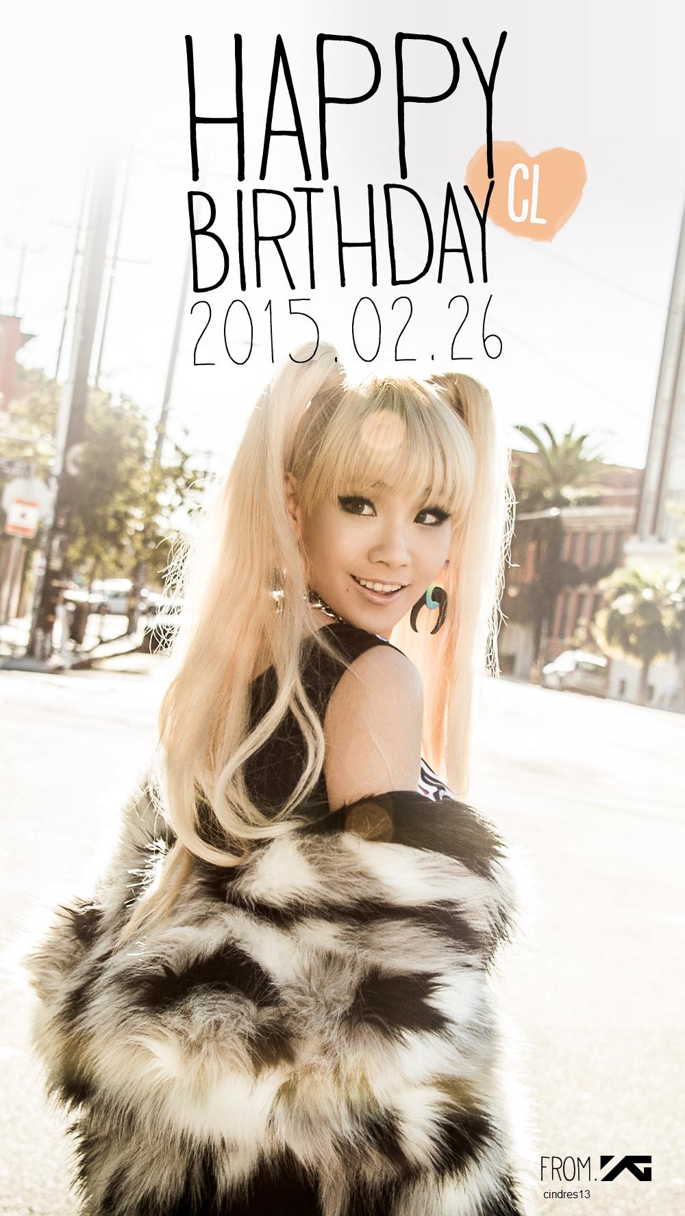 HAPPY BIRTHDAY CL!!! 🎉🎂 Cl 2ne1, 2ne1, Happy birthday