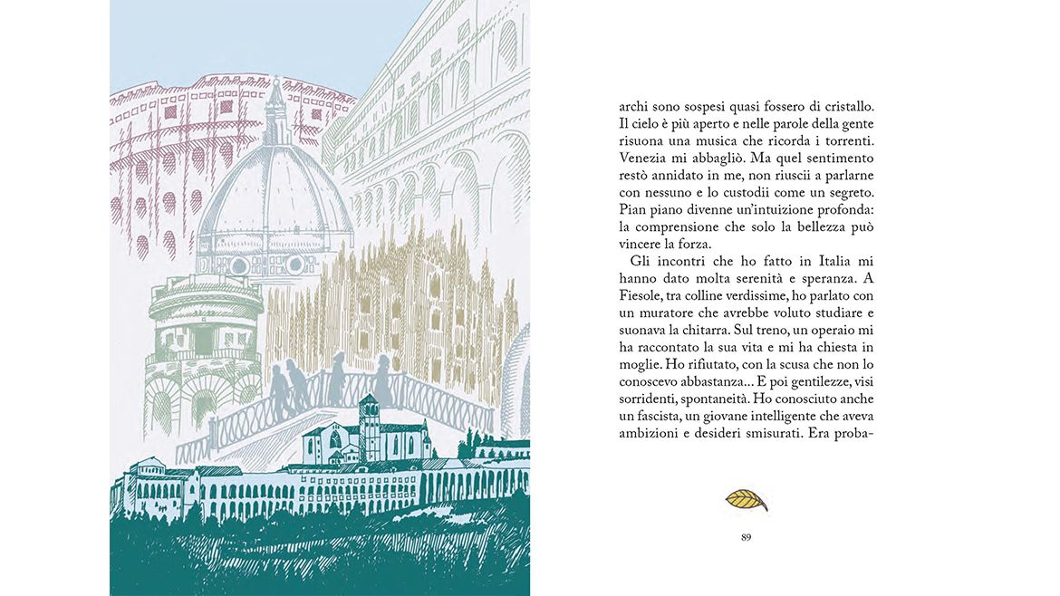 Il taccuino di Simone Weil, text by Guia Risari and illustrations by Pia Valentinis, published by rueBallu | Phileas Fogg Agency