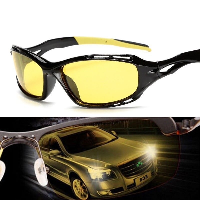 2eeeb09c4f Night Driving Anti Glare Glasses Safety Driving Yellow Lens Night Vision  Goggles  Unbranded  GogglesForSportCar