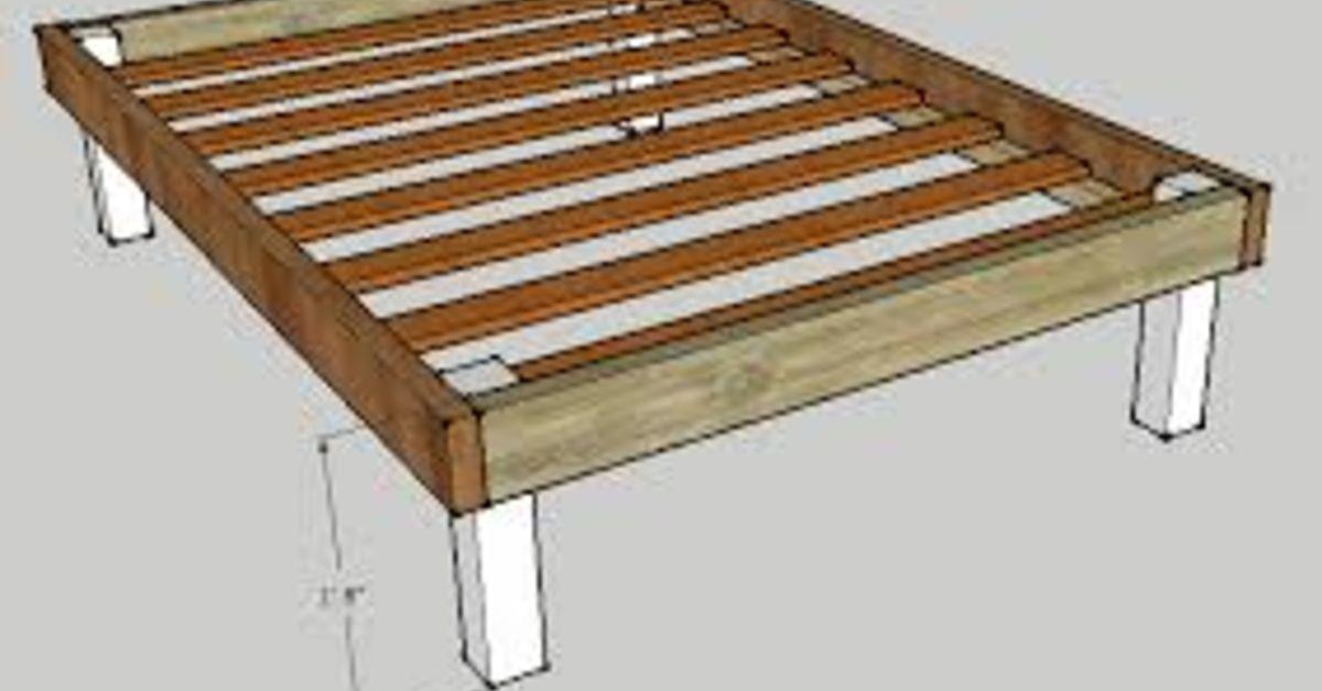 Reinforce A Basic Bed Frame Low Cost Fix Diy Platform Bed Plans Diy Bed Frame Plans Queen Bed Frame Diy