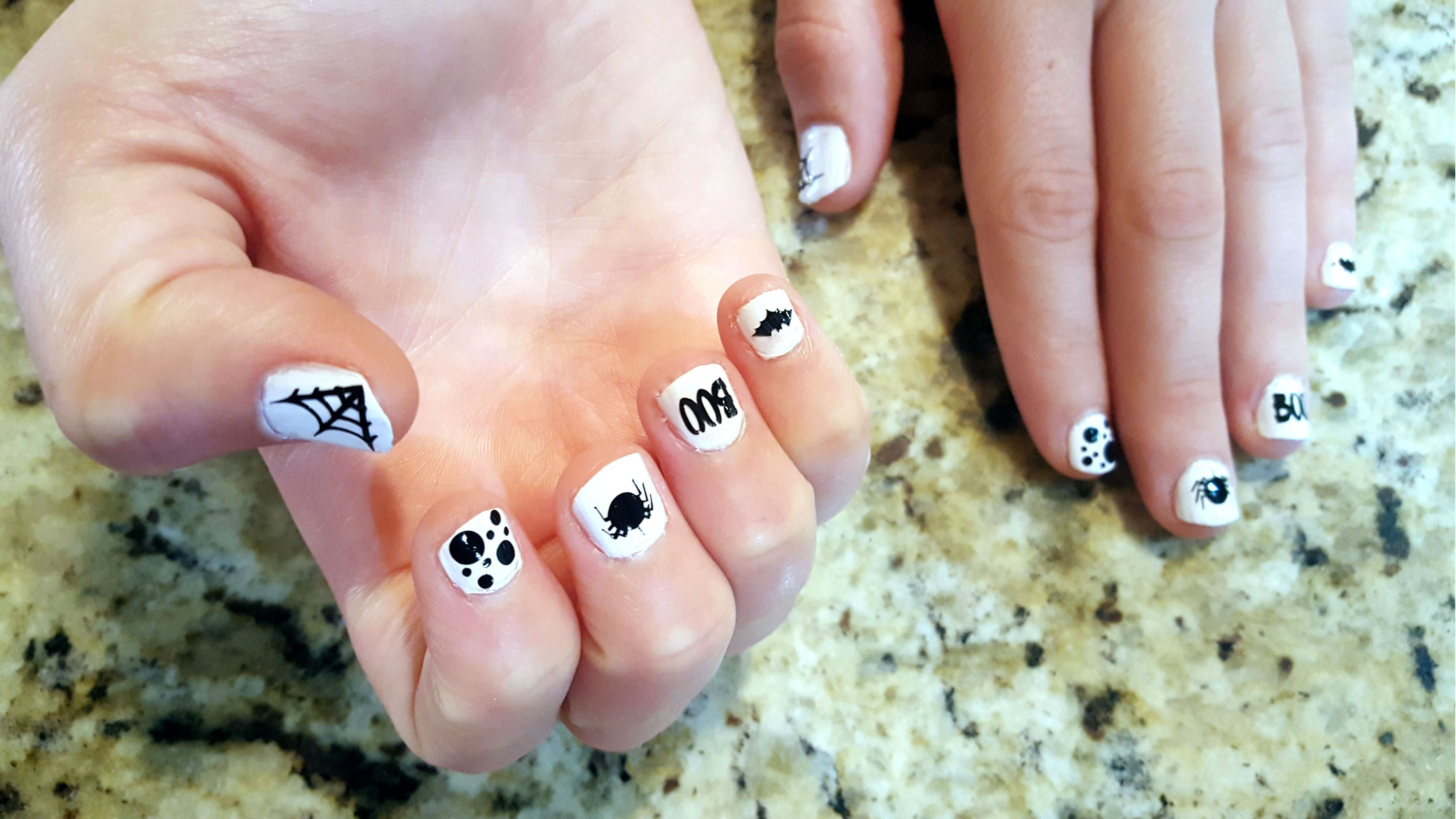 Halloween Nail Art with Happy Crafter's Vinyl (With images ...