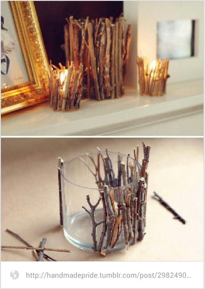 Simple candle idea. Oh so easy, but really cute!