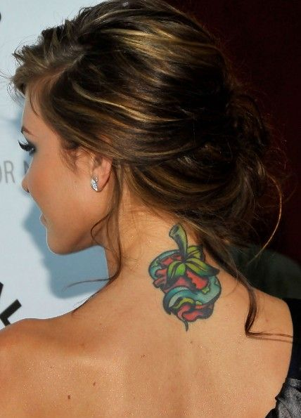 audrina patridge updo: sexy loose side bun updo with bangs | side