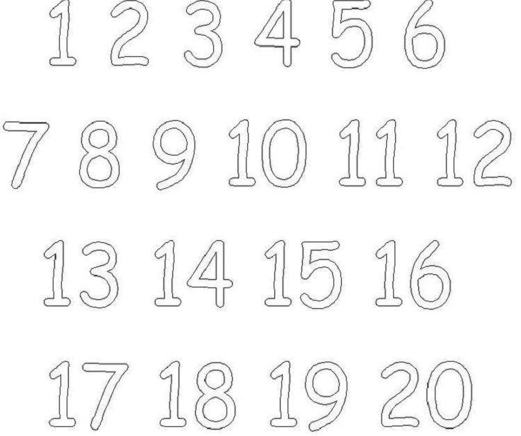 Numbers Coloring Pages 1 20 Modele De Papillon Caligraphie Modeles De Noel