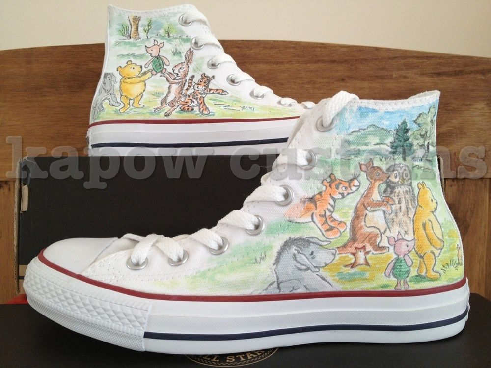 Winnie the Pooh custom converse by KapowMan | Disney painted