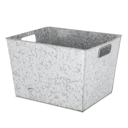 Charmant Better Homes And Gardens Small Galvanized Bin, Silver Image 3 Of 6