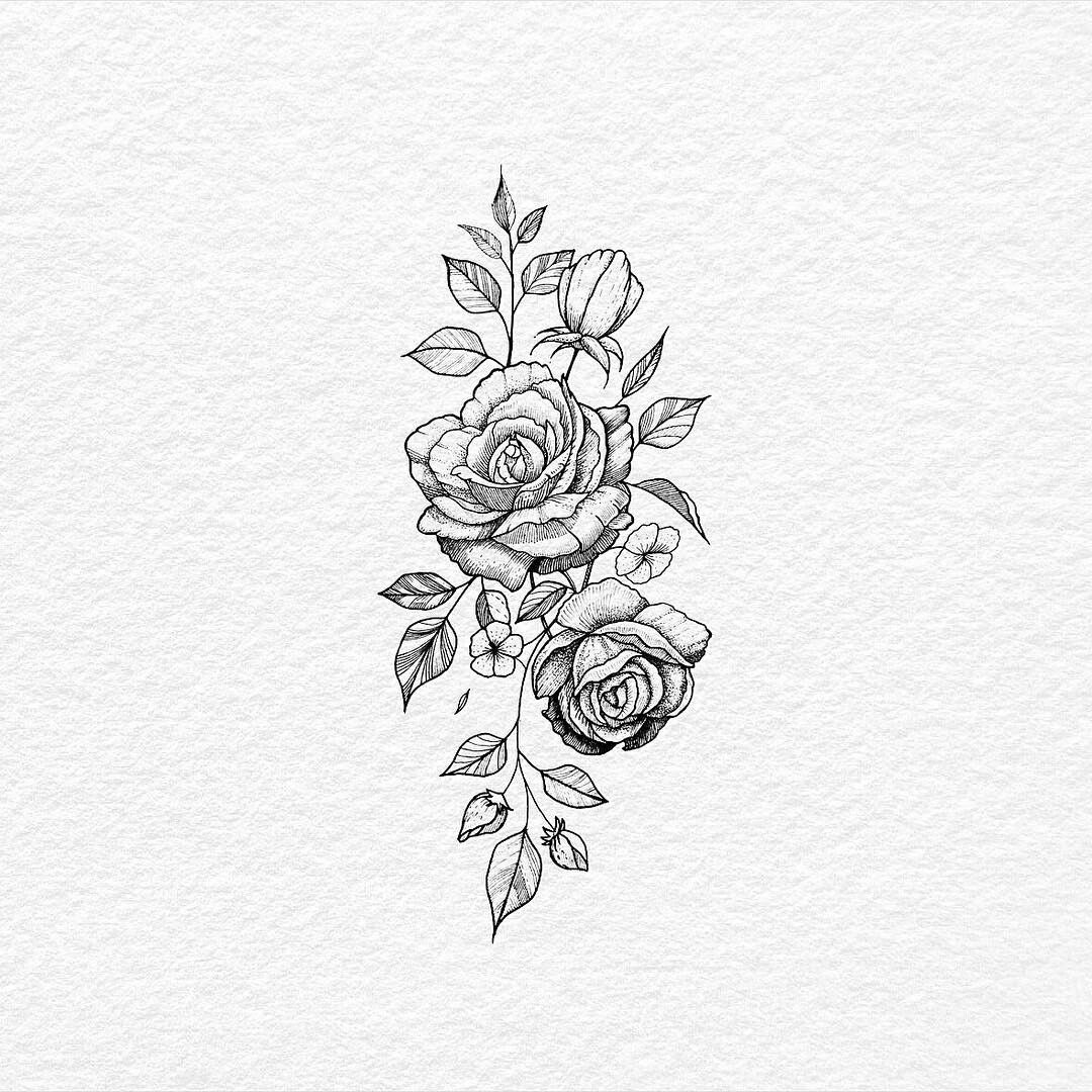 Simple But Want Peonies Rose Flower Tattoos Tattoos Floral Tattoo Design