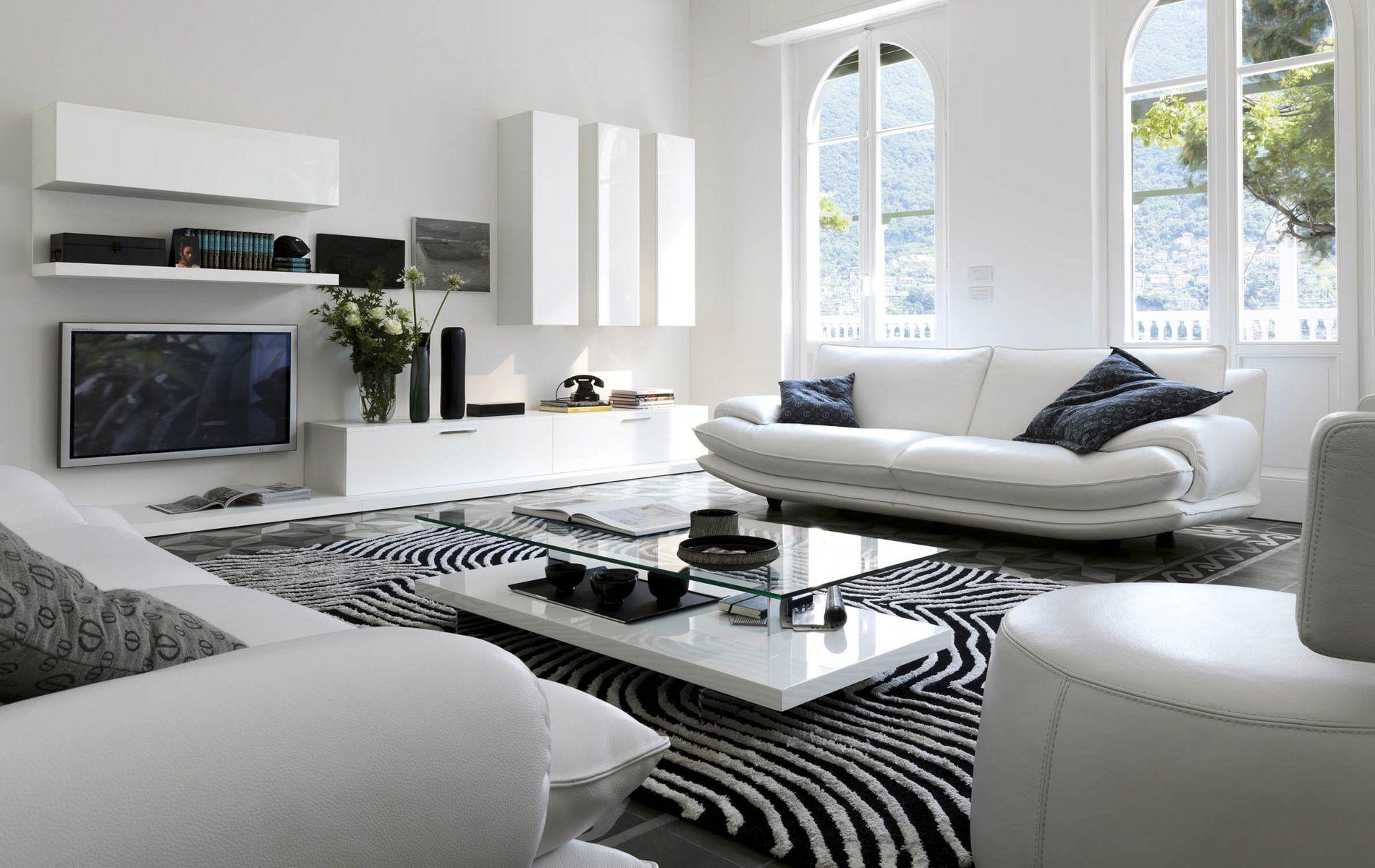 Soggiorni moderni divani letto in pelle poltroncini e non - Immagini soggiorni moderni ...