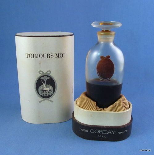 Vintage Corday France TOUJOURS MOI Perfume Bottle in Presentation Box