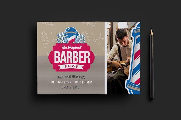 Barber S Shop Flyer Template By BrandPacks On Creativemarket