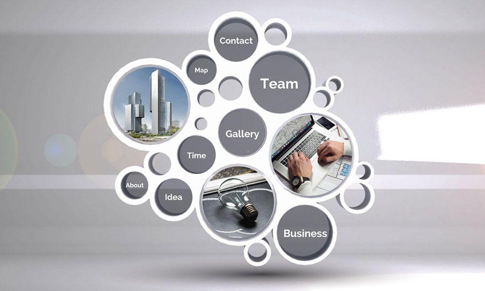 3d Circles Structure Professional Business Presentation Prezi Next