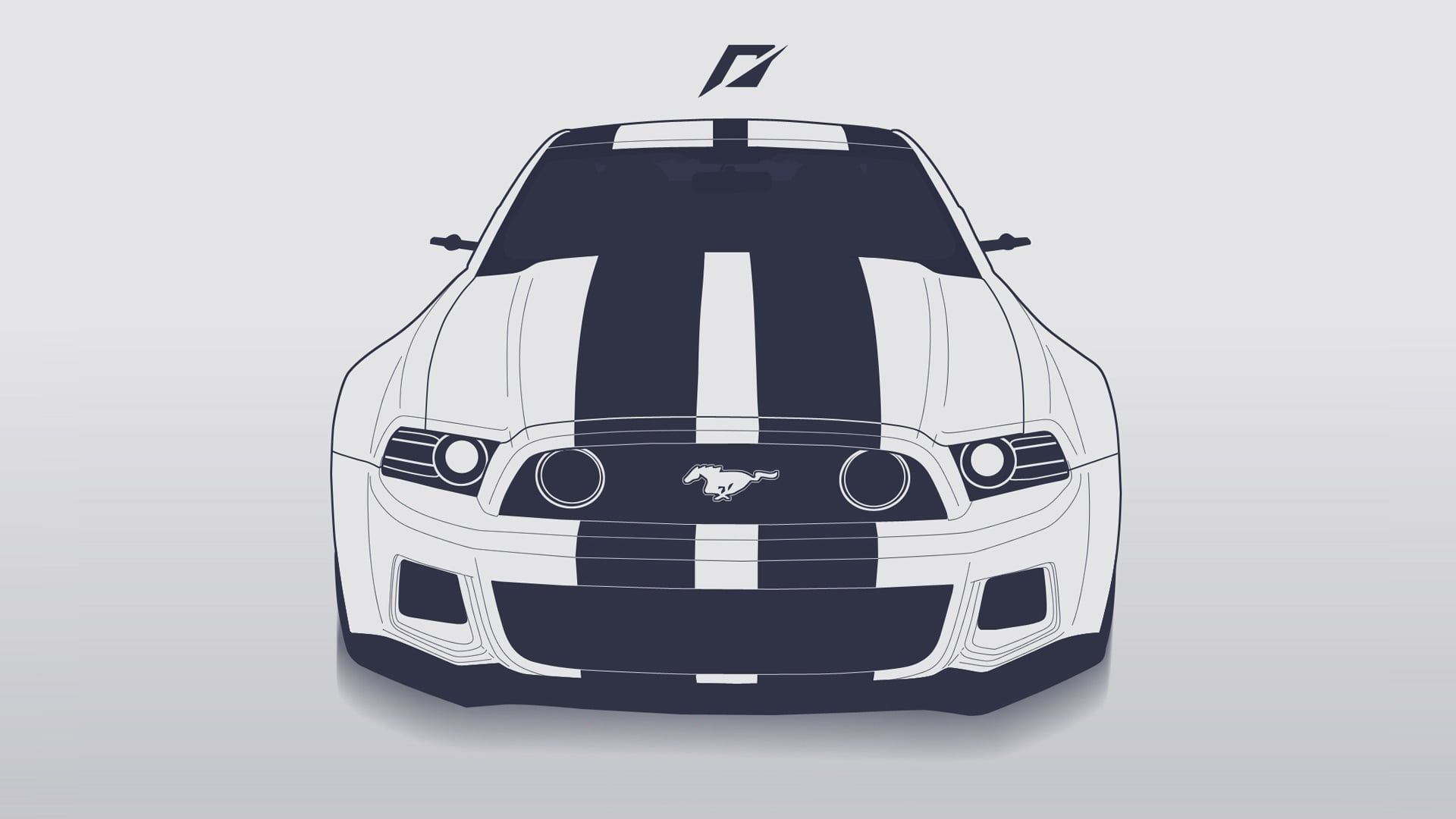 White And Black Ford Mustang Car Illustration Mustang Ford Ford Mustang Need For Speed 2014 Art Line 1080p Wallpap Ford Mustang Car Ford Mustang Mustang