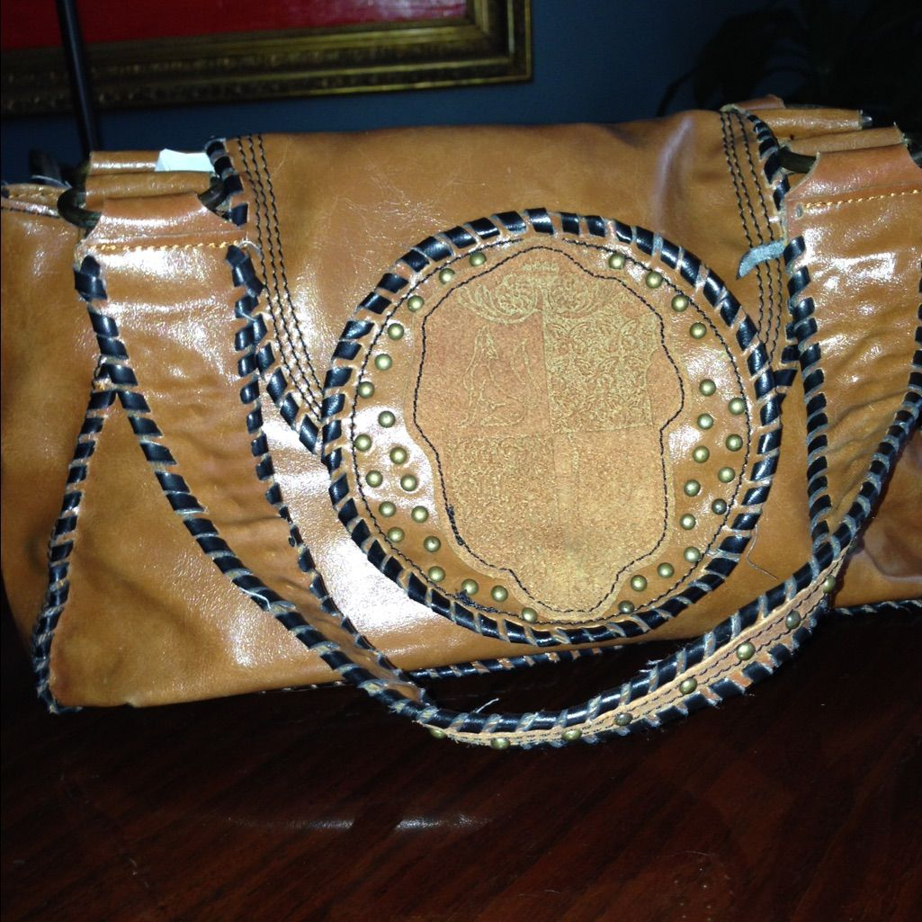 Sale! Bcbg Brown Leather Handbag.