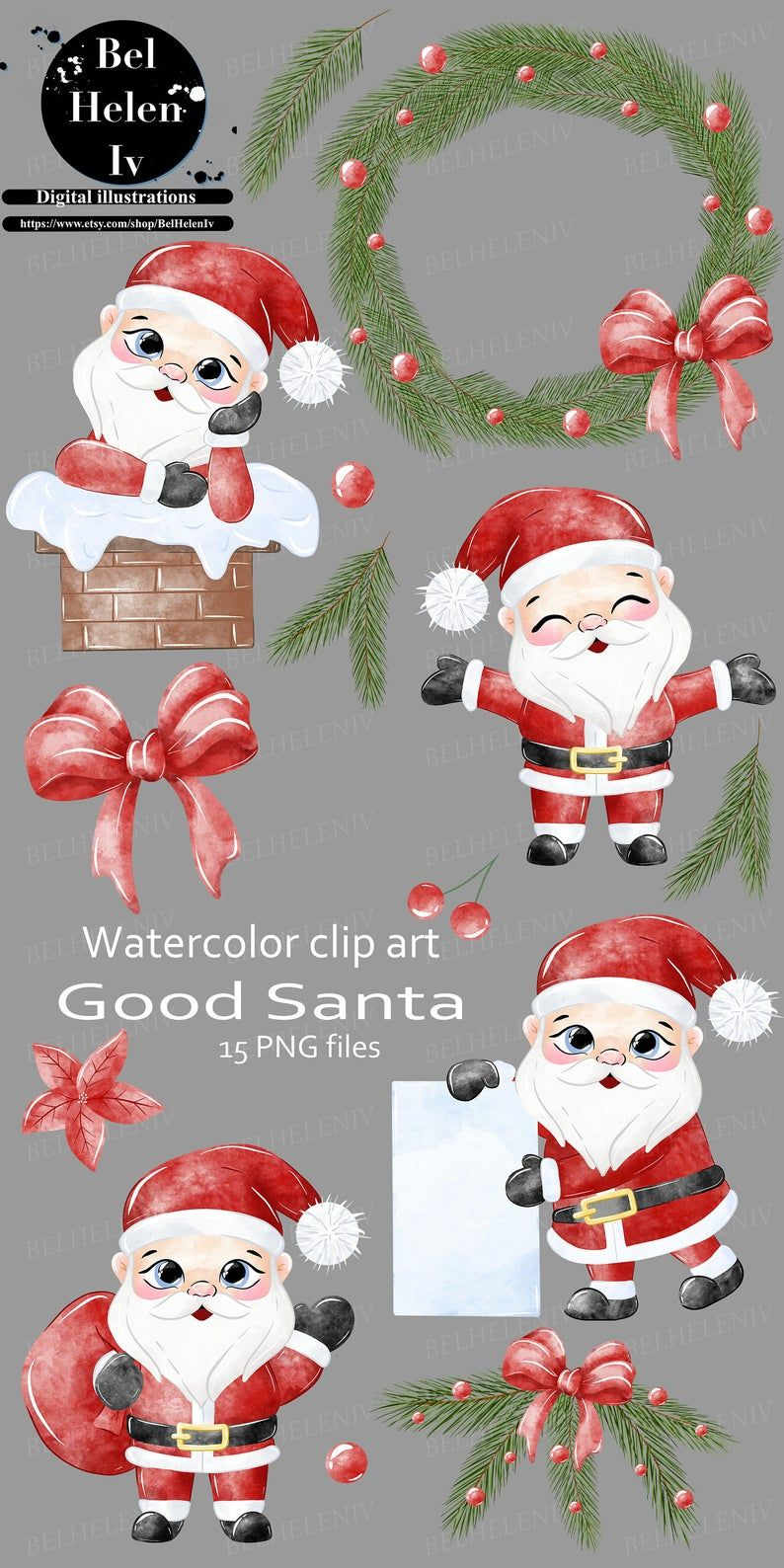 Winter Woodland Watercolor Clipart Christmas Holidays Digital | Etsy in  2020 | Clip art, Christmas clipart, Watercolor clipart