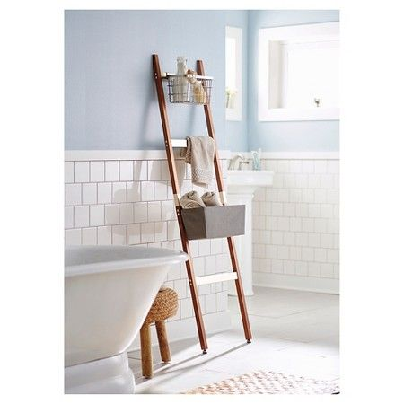 if i chopped it down and drilled a hole at the top rungs to add a tension rod would this increase bathroom storage